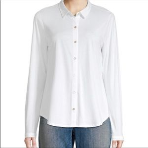 NWT Eileen Fisher Organic Cotton Button Down Top S